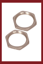 Panel Nuts Brass Nickel Plated